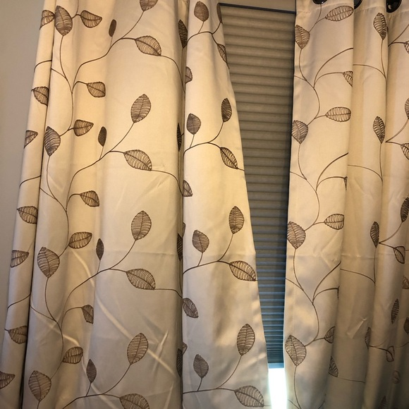 """Curtains. 63"""" long"""